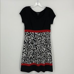 EnFocus Studio Red & Black Short Sleeve Dress